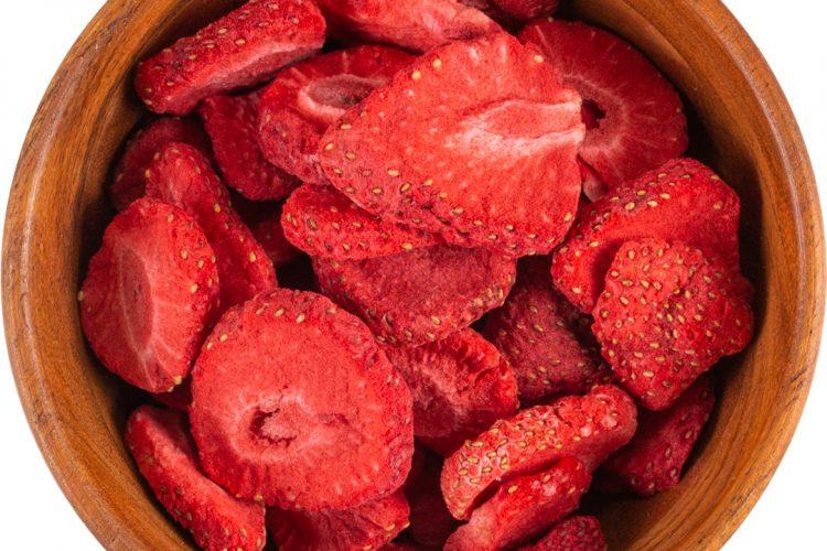 Liofilizowane truskawki