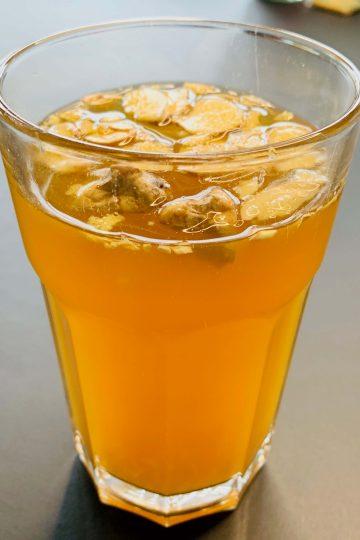 Herbata z liofilizowanym imbirem